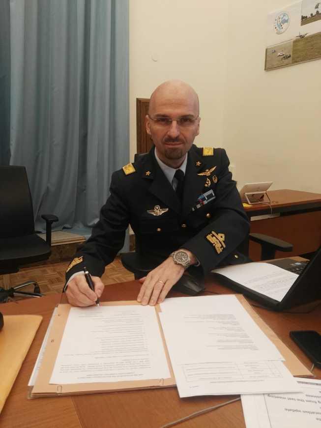 Il generale argieri firma il passaggio di consegne