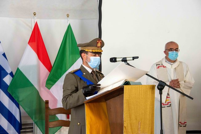 7. colonnello zuzzi  durante il suo intervento